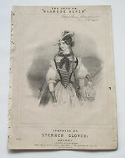 THE SONG OF BLANCHE ALPEN ANTIQUE VICTORIAN SHEET MUSIC JOHN BRANDARD ART*