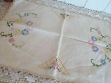 Tray Cloths Embroidery Antique Table Linens