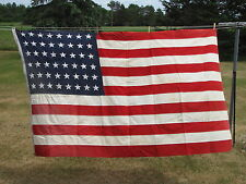 VINTAGE UNITED STATES OF AMERICA FLAG 48 STAR ANIN DEFIANCE 4X7 COTTON BUNTING
