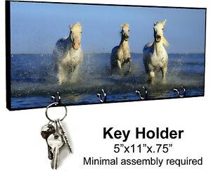 KEY HANGER HOLDER RACK - HORSE #4 Equestrian Rider Colt Filly Pony Mare Gift