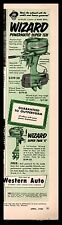 1953 WIZARD Powermatic Super Ten and Super Twin 6 Outboard Motor Western Auto AD