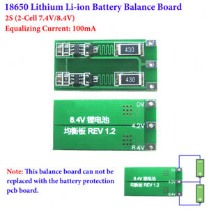 Li-ion Lithium 18650 Battery Charger 2S 2 Cell 7.4V 8.4V Module Balance Board