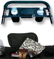 Kids Baby Stroller Safe Console tray pram hanging Black Bag bottle Cup Holder GN