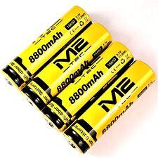 4 x m2 tec de iones de litio Batería 3,7 V 8800 mah 11,8 WH tipo 18650 Li-ion 65 x 18m