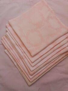 8 Stoff Servietten rosa Damast 46x50cm