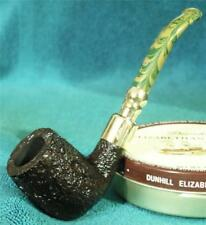 NEW UNSMOKED! ASHTON BRINDLE STERLING SILVER SPIGOT 3/4 BENT English Estate Pipe