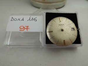 97 - Movimento doxa 116 working con dial sold for parts or repair