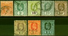 More details for ceylon 1910-11 set of 8 to 5r sg292-299 good used