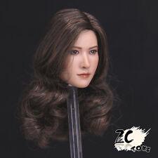 "ZCTOYS T003 1/6 Long Curls Asian Female Girl Head Sculpt Model Toy For 12"" Body"