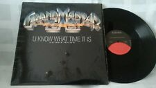 GRAND MASTER FLASH U KNOW WHAT TIME IT IS (EXTENDED STRATCH) 12' ELEKTRA RECORDS