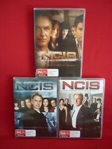 NCIS SEASONS 1, 2, 3 DVD 6 DISCS IN EACH GREAT DRAMA SERIES VGC