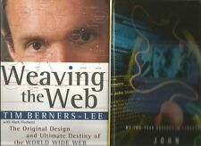 WEAVING THE WEB by Tim Berners-Lee 2003 Hc + DEEPER by Seabrook 1997 Hc 2 Books