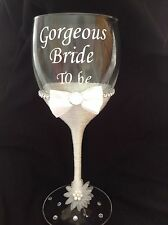 Gorgeous Bride To Be Wine Glass - Hen Party/ Wedding Gift Idea