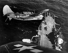 """Curtiss SB2C-3 Helldiver landing on USS Hornet 8""""x 10"""" World War II 2 Photo 252"""