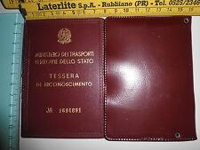 Tessera di riconoscimento Ministero Trasporti Ferrovie dello Stato n 1694691 - 2