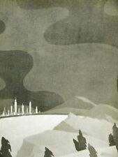 John Vassos DOOMED DISTANT CITIES 1930 Art Deco Print Matted