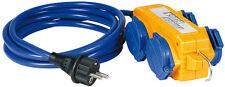 Brennenstuhl 1161750 5m ALARGADOR azul amarillo con Powerblock IP44