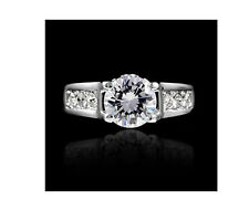 Engagement Bridal The Arrows Silver with Zircon Ring medium size O / 7 FR42