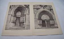 Ouest Portes Avant liège Cathédrale 19th siècle Irish ARCHITECTURE 1890 Irlande