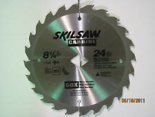 NEW 8-1/4 INCH BLADE SKIL 24 CARBIDE TOOTH COMMERCIAL BLADE(DIAMOND KNOCK OUT)!!