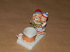 Wa Candle Holder Christmas Carolers Vintage 1982