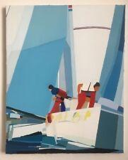 """FOUGERAND.L Huile sur toile  81 cm x 65 cm _"""" Atelier du Vendée Globe """""""