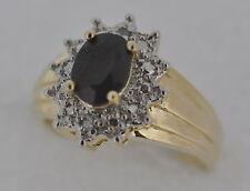 Ovale Echte Edelstein-Ringe mit Saphir