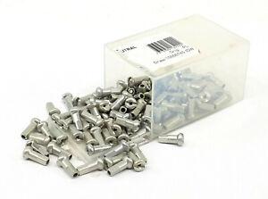 DT Swiss Standard Aluminum Nipples: 1.8 x 12mm Silver Box of 100