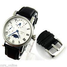 Orologio Parnis Movimento Meccanico Seagull 6497 Funzione GMT Fasi Lunari PN829