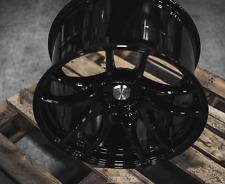 ESR SR08 18x9.5 18x10.5 +22 5x100 Full Gloss Black Concave Staggered (Set of 4)