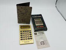 Toshiba Vintage Gold Calculator LC-821 Works Rare