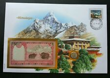 Himalaya Mountain 2013 Landmark Nature FDC (banknote coin cover) 3 in 1 *Rare