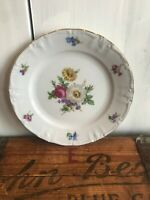 "Winterling Fine China Flower Garden Gold Trim Bavaria Germany 7 7/8"" Salad Plate"