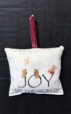 Handmade Embroidered Folk Art Christmas tree hanging decorations 100% cotton