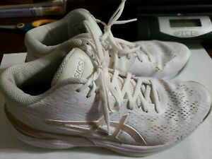 Asics Sky Elite FF Indoor Volleyball Shoes  Womens 8.5 White/Gold 1052A023