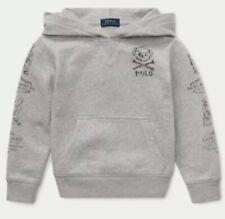 NWT Polo Ralph Lauren Kids Youth Spring Bear II Gray hoodie sweatshirt 10-12