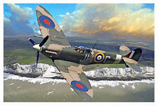 SUPERMARINE SPITFIRE LARGE A1 SIZE CANVAS WALL ART PICTURE PRINT WORLD WAR II 2