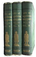 The Life of Napoleon Buonaparte - 3 Volume Set ©1875 William Hazlitt