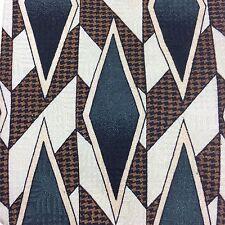 Cellini Linea Vomo Silk Tie Diamond Geometric Houndstooth Print Mens Necktie