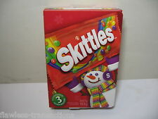 SKITTLES Holiday Gift Box and Game Board 3 full size bags Best By 30DEC17 NEW