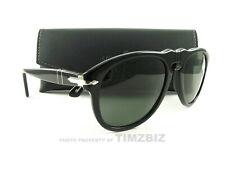 Persol Sunglasses PO0649 Black Green 95/31 Authentic New 52mm