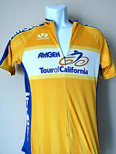 Vintage YELLOW AMGEN VOLER CYCLING JERSEY XS Extra Small 3 pocket