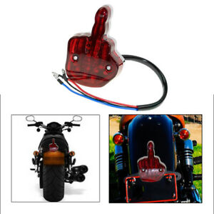 Unique Middle Finger Motorcycle Taillight Tail Light 12V Rear Brake Lamp