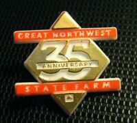 State Farm Insurance Lapel Pin - Vintage 35th Anniversary Great Northwest Pin
