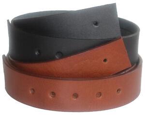 QHA Mens Leather Belt No Buckle Full Grain Strap Gift Q52019