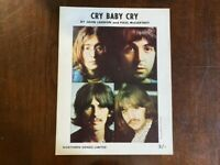 BEATLES 1968 CRY BABY CRY OFFICIAL UK  SHEET MUSIC JAMES MINT-7379