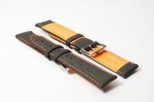 Watch Strap - Orange Ms744 Men's Hadley-Roma 20mm Sailcloth Everyday Carry