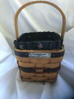 Longaberger 1993 Inaugural Basket With Fabric Liner & Protector