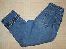 LL Bean Women's Relaxed Fit Flannel Lined Jeans Size 8 Pet. Blue Denim 28x27