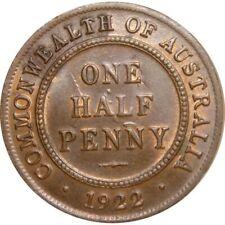 1922 Australia King George V Half Penny Copper Coin